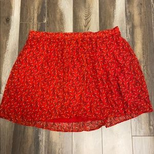 OLD NAVY - red floral skirt